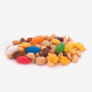 frutos secos con golosinas importaco
