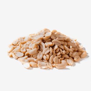 mitades de cacahuete repelado