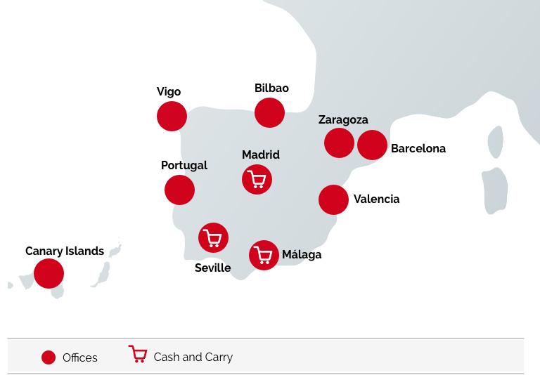 mapa oficinas y venta España