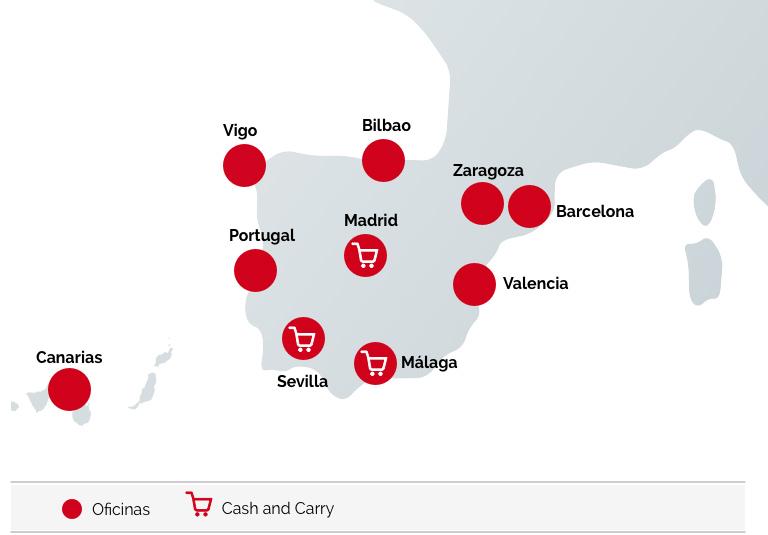 mapa España Importaco