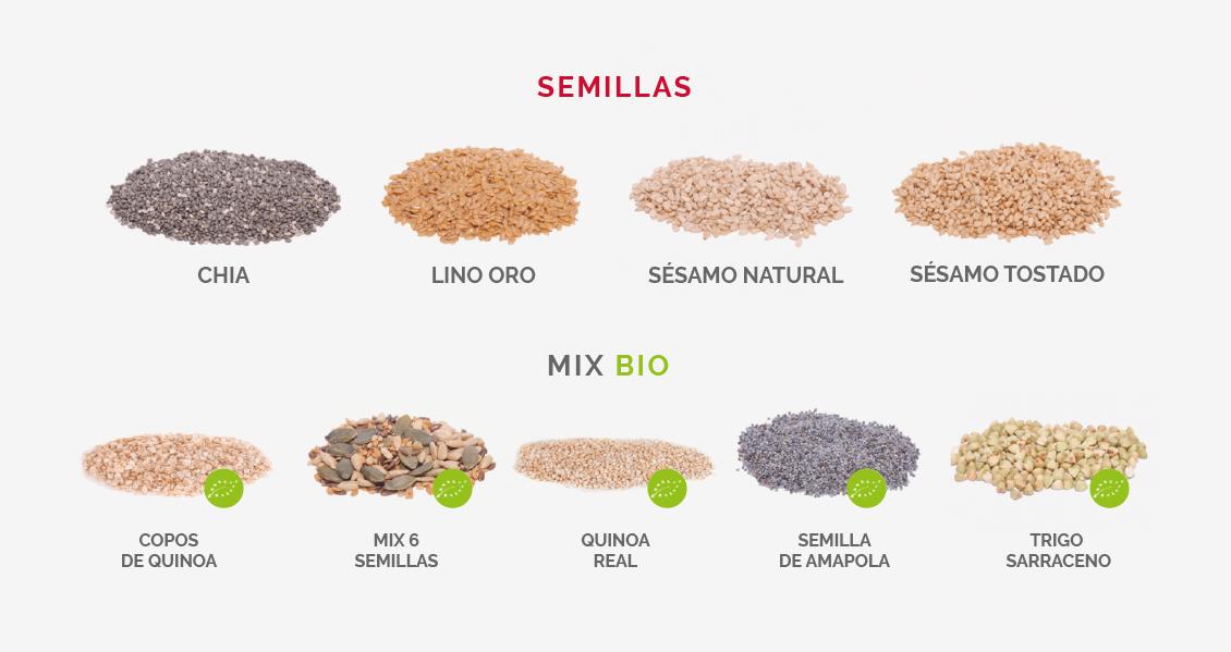 semillas para recetas