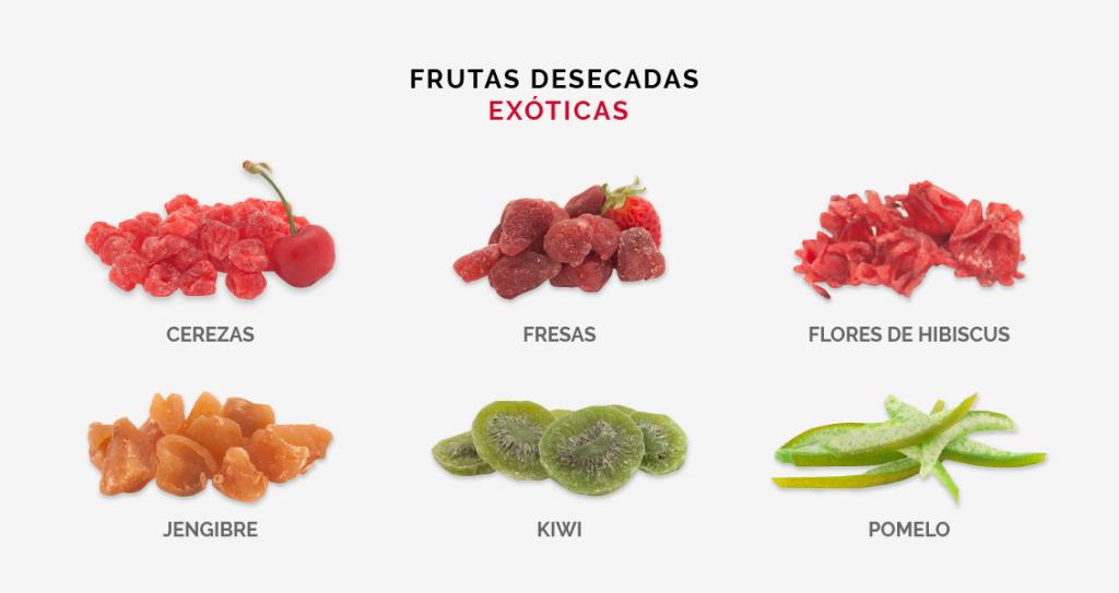frutas deshidratadas exóticas