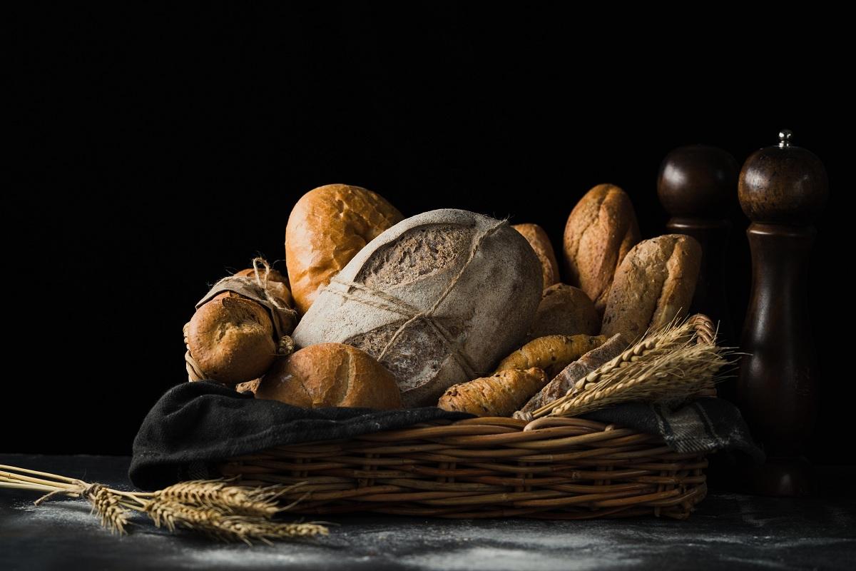 diferentes tipos de pan con frutos secos